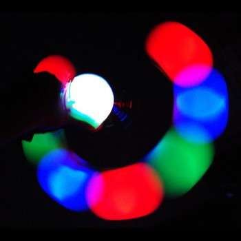 Glow Poi Super Strobe Set in Action